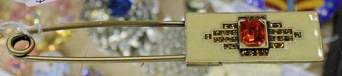 Enamelled Brass Pin