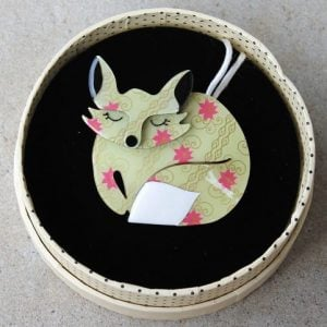 Erstwilder Brooch – Sacha The Sleeping Fox
