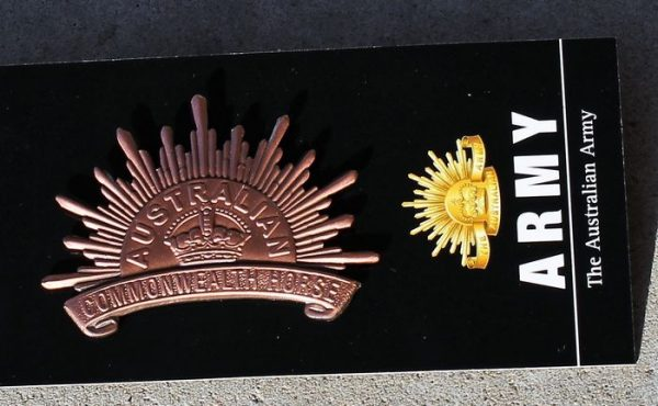 morpeth antique centre gift gallery hunter valley war memorabilia WWI WWII world one two flander's field Australian rising sun hat badge 1902 2nd edition