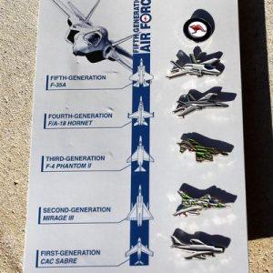 RAAF Air Force Lapel Pin Set