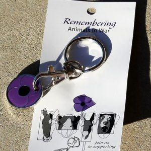 Purple Poppy Keyring