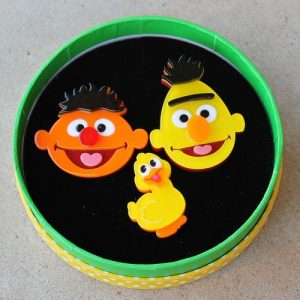 Erstwilder Brooch Trio – Bert & Ernie (and rubber ducky)