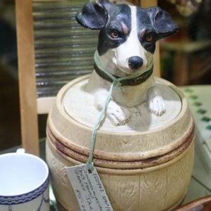 Fox Terrier Ceramic Barrel