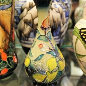 morpeth antique centre hunter valley walter william moorcroft hypericum vase english pottery ceramics