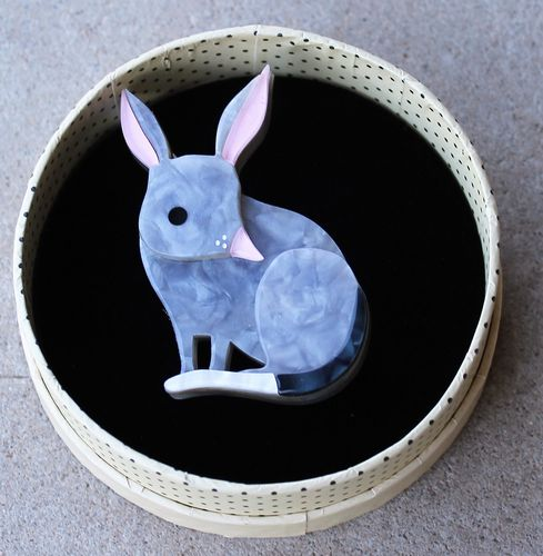 morpeth antique centre hunter valley erstwilder bouncy burrow dweller bilby easter australian marsupial endangered animals and birds brooch necklace earrings retro pin up collectable