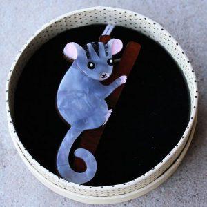 Erstwilder Brooch – Possum at Play (Leadbeater Possum)