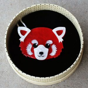 Erstwilder Brooch – Lesser Rusty (Red Panda)