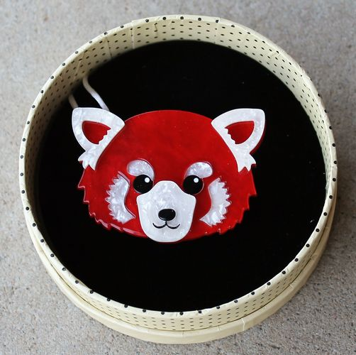 morpeth antique centre hunter valley erstwilder lesser rusty red panda adelaide zoo endangered animals and birds brooch necklace earrings retro pin up collectable