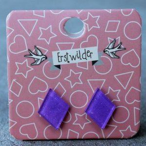 Erstwilder Earrings – Diamond Purple Sparkle