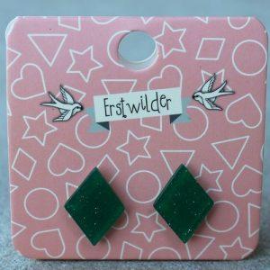 Erstwilder Earrings – Diamond Emerald Green Sparkle