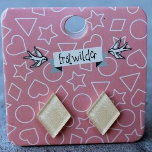 Erstwilder Earrings – Diamond Cream Sparkle