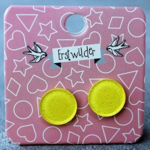 Erstwilder Earrings – Round Yellow Sparkle