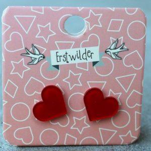 Erstwilder Earrings – Heart Red