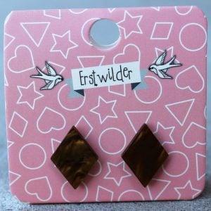 Erstwilder Earrings – Diamond Brown Swirl
