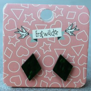 Erstwilder Earrings – Diamond Emerald Green Swirl