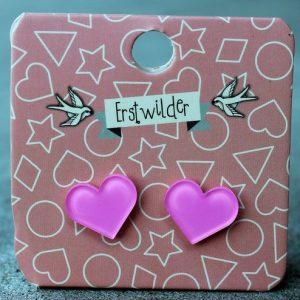 Erstwilder Earrings – Heart Pink