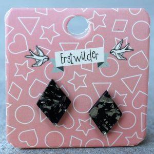 Erstwilder Earrings – Diamond Silver Glitter