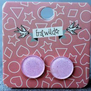 Erstwilder Earrings – Round Light Pink Sparkle