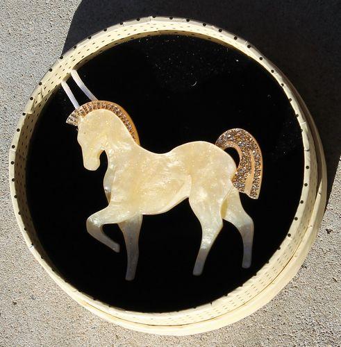 morpeth antique centre hunter valley erstwilder necklace brooch earrings friesian of fancy horse prancing roaring twenties art deco retro great gatsby1920 1930 flapper age glamour