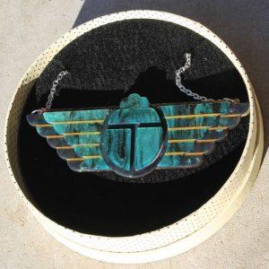 Erstwilder Necklace – Ancient Egypt Revival (Scarab)