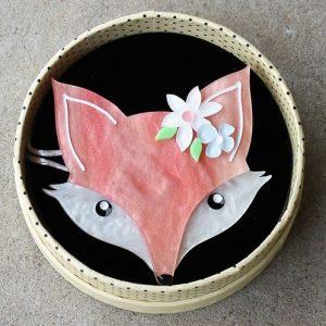 Erstwilder Brooch – Flora Fox Face