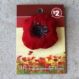 Fabric Poppy Brooch