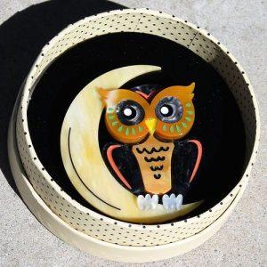 Erstwilder Brooch – A Moon With a View (Owl)