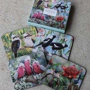 Coasters Australian Bird & Flora – Set of Four