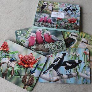 Placemats Australian Bird & Flora – Set of Four