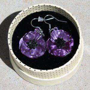 Erstwilder Earrings – Poppy Field Drop (Purple)