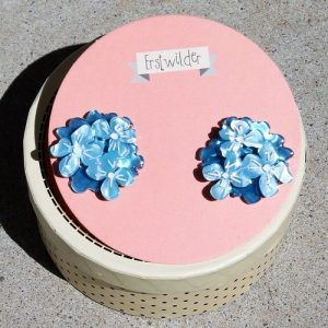 Erstwilder Earrings – Heartfelt Hydrangea (Blue)