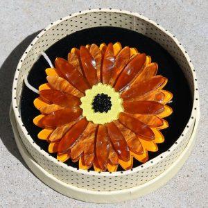 Erstwilder Brooch – Sunshine of Life (Gerbera)