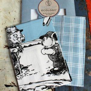 Tea Towel Pair – Blinky Bill Sky Blue