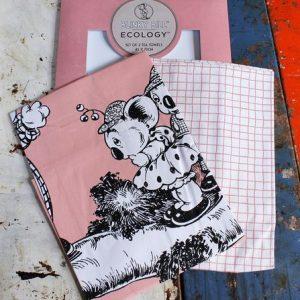 Tea Towel Pair – Blinky Bill Pink