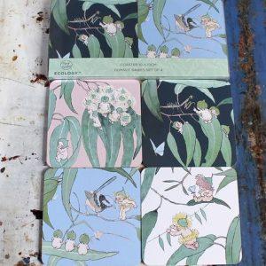Set of Four Coasters – May Gibbs Bush Babies