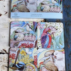 Set of Four Coaster – May Gibbs Bush Tales Wildlife