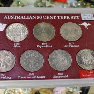 Australian 50 Cent Type Set