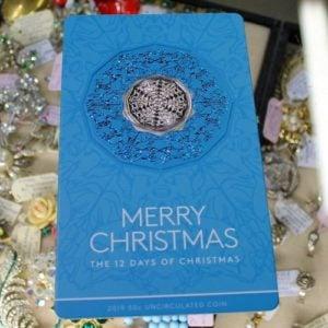 Twelve Days of Christmas 50c Coin – Blue