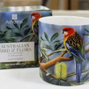 Mug – Eastern Rosella & Banksia