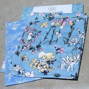 May Gibbs Tea Towel Set of Two – Flower Babies – Blue