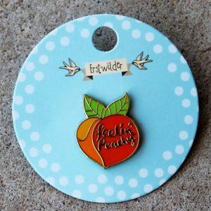 Erstwilder Enamel Pin – Feelin' Peachy
