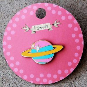 Erstwilder Enamel Pin – Saturn the Sixth