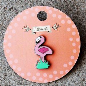 Erstwilder Enamel Pin – Flamboyant Flamingo Funk