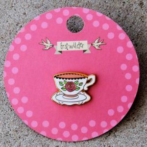 Erstwilder Enamel Pin – Telltale Teacup