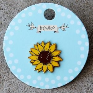 Erstwilder Enamel Pin – Salubrious Sunflower
