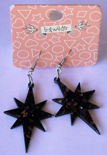 morpeth antique centre hunter valley erstwilder earrings brooch necklace starburst black retro collectable pin up