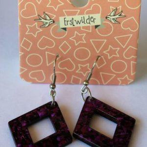 Erstwilder Drop Earrings – Diamond Glitter Purple