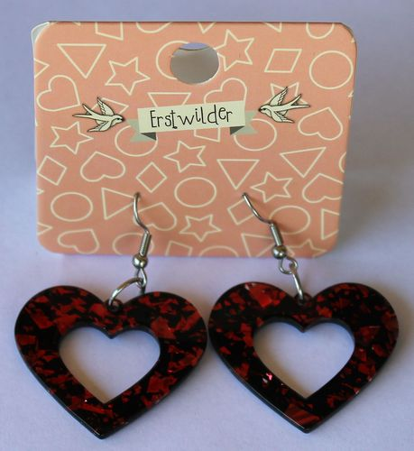 morpeth antique centre hunter valley erstwilder earrings brooch necklace heart red glitter retro collectable pin up