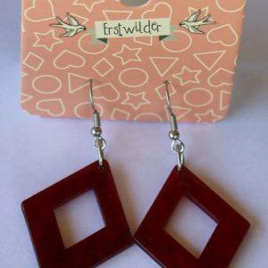 Erstwilder Drop Earrings – Diamond Red