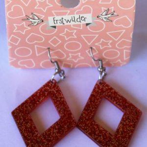 Erstwilder Drop Earrings – Diamond Sparkle Red